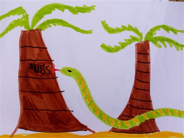 palmier-serpent